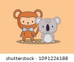 cute animals design | Shutterstock .eps vector #1091226188
