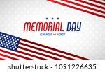 happy memorial day. greeting... | Shutterstock .eps vector #1091226635