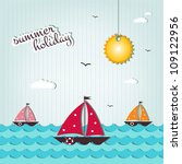 cartoon summer holiday... | Shutterstock .eps vector #109122956