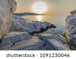 aegean seashore and marble... | Shutterstock . vector #1091230046