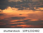 sunset with clouds background. | Shutterstock . vector #1091232482
