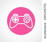 game icon isolated on white...   Shutterstock .eps vector #1091235752