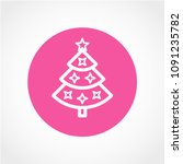 christmas tree icon isolated on ...   Shutterstock .eps vector #1091235782