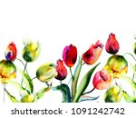 template for greeting card with ... | Shutterstock . vector #1091242742