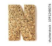 cork. alphabet.letter n  on... | Shutterstock . vector #1091248076
