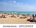 porto cesareo  italy   april 29 ... | Shutterstock . vector #1091254925