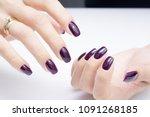 attractive manicure on women's... | Shutterstock . vector #1091268185