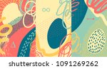 creative doodle art header with ... | Shutterstock .eps vector #1091269262