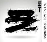black brush stroke and texture. ...   Shutterstock .eps vector #1091272178