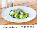 fresh vegetable salad. healthy... | Shutterstock . vector #1091272556