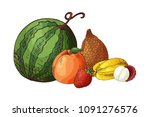colorful vector illustration.... | Shutterstock .eps vector #1091276576
