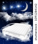 sweet dreams concept vector... | Shutterstock .eps vector #1091284142