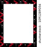 white frame background with... | Shutterstock . vector #1091289056