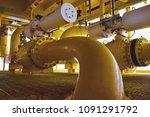 shutdow valve install on oil... | Shutterstock . vector #1091291792