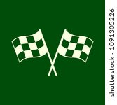 checkered racing flag icon.... | Shutterstock .eps vector #1091305226