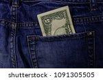 five dollars banknote in the... | Shutterstock . vector #1091305505