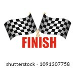 finish line on the rally | Shutterstock .eps vector #1091307758