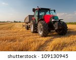 modern red tractor on the... | Shutterstock . vector #109130945