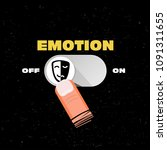 emotion button on and off.... | Shutterstock .eps vector #1091311655