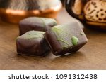 handmade bonbons decorated with ...   Shutterstock . vector #1091312438