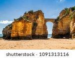 bridge at a beach in lagos ... | Shutterstock . vector #1091313116