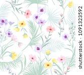 seamless pattern floral  print... | Shutterstock .eps vector #1091323592