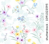 seamless pattern floral  print... | Shutterstock .eps vector #1091323595