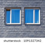 wall of the house is decorated... | Shutterstock . vector #1091327342