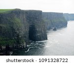 views at the cliffs of moher | Shutterstock . vector #1091328722