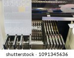 machine led light bulb.   Shutterstock . vector #1091345636