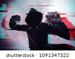 violence and crime on the... | Shutterstock . vector #1091347322