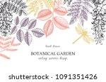 vector design with hand drawn... | Shutterstock .eps vector #1091351426