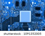 electronic circuit board close... | Shutterstock . vector #1091352005