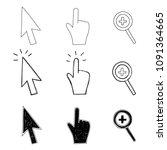 vector illustration cursor ... | Shutterstock .eps vector #1091364665