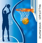 basketball hoop and basketball... | Shutterstock .eps vector #109137746