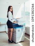 full length portrait of serious ... | Shutterstock . vector #1091382266