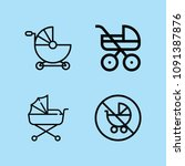 outline carriage icon set such...   Shutterstock .eps vector #1091387876