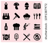 filled food icon set such as... | Shutterstock .eps vector #1091387972