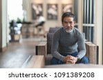 portrait of happy mature man... | Shutterstock . vector #1091389208
