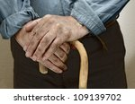 peasant hands  leaning on a... | Shutterstock . vector #109139702