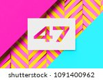 white color number 47 on candy... | Shutterstock . vector #1091400962