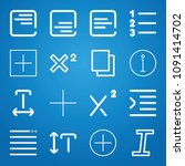 signs icon set   outline... | Shutterstock .eps vector #1091414702
