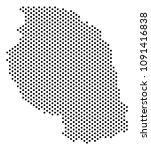 dotted tanzania map. vector... | Shutterstock .eps vector #1091416838