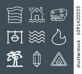nature icon set   outline... | Shutterstock .eps vector #1091420555