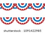 bunting american flags for july ... | Shutterstock .eps vector #1091422985