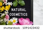 natural cosmetics background | Shutterstock . vector #1091423432