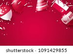 9th of august. singapore... | Shutterstock .eps vector #1091429855