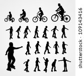 big set vector silhouette of... | Shutterstock .eps vector #109143416