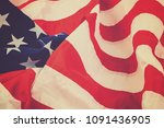 the us flag is laid as a... | Shutterstock . vector #1091436905