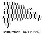 dot dominican republic map.... | Shutterstock .eps vector #1091441942